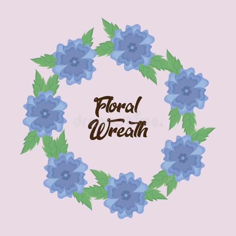 Progettazione floreale della corona illustrazione vettoriale