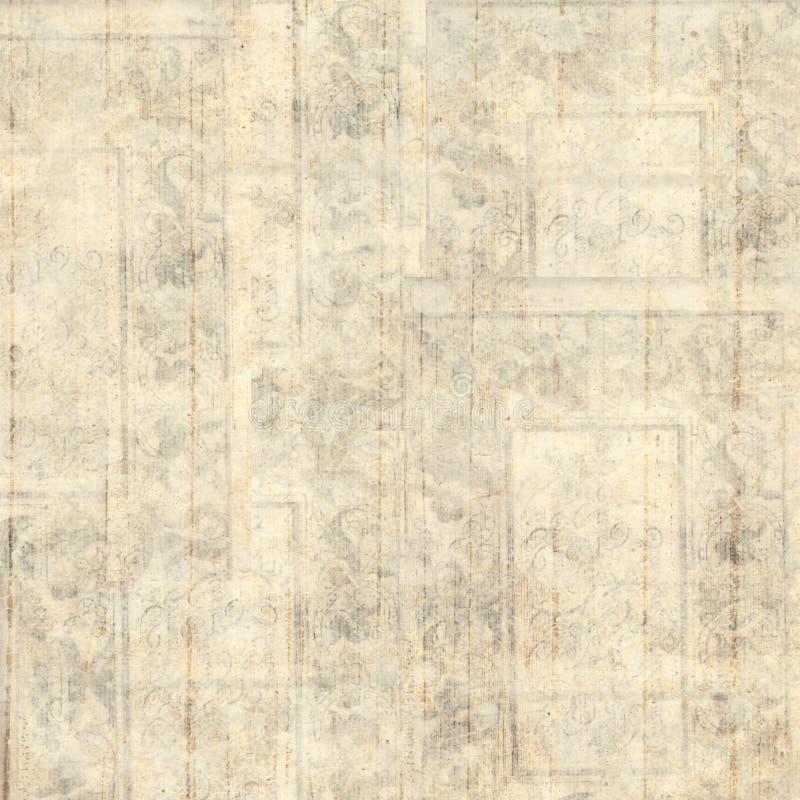 Progettazione floreale grungy pastello d'annata del fondo illustrazione di stock