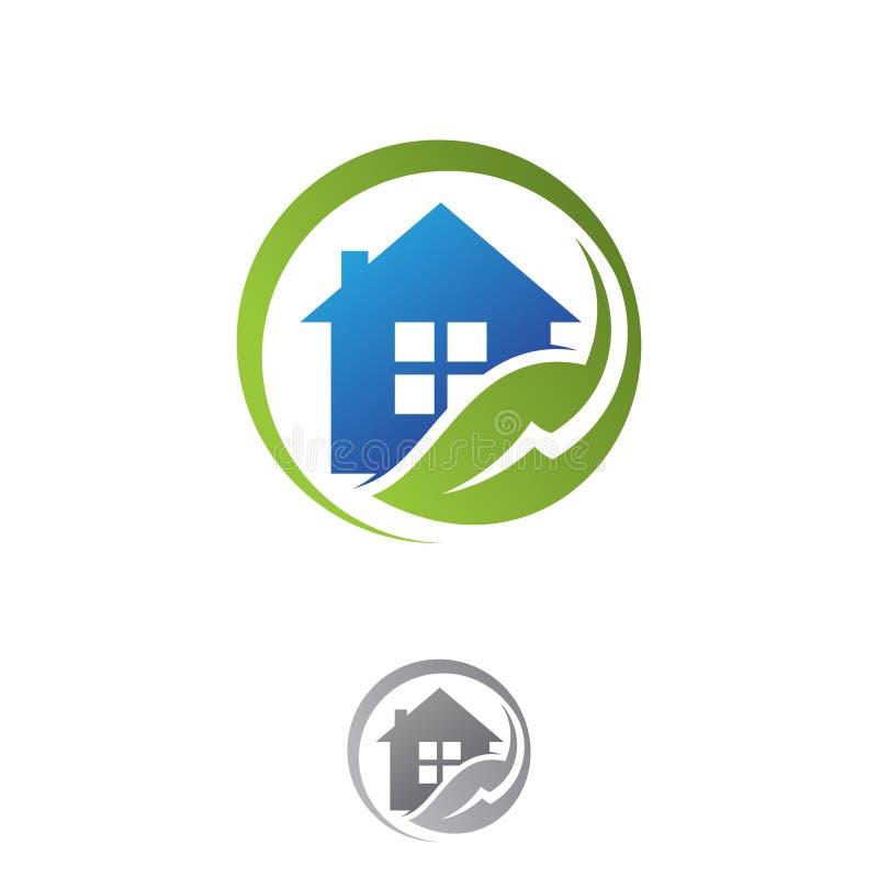 Progettazione fresca elettrica dell'elemento della natura della casa verde di eco illustrazione vettoriale