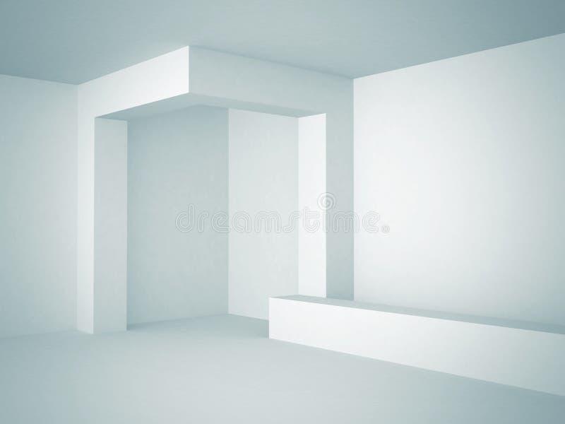 Progettazione futuristica astratta del fondo di architettura illustrazione di stock