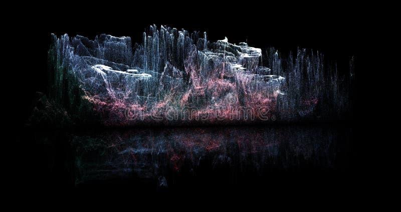 Progettazione futuristica astratta planetaria illustrazione di stock