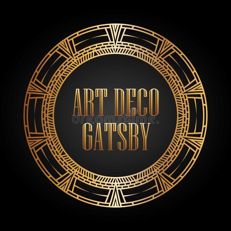 progettazione gatsby dell'elemento di art deco royalty illustrazione gratis