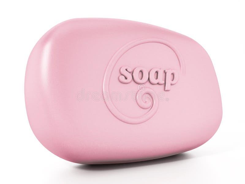 Progettazione generica del sapone isolata su fondo bianco illustrazione 3D royalty illustrazione gratis