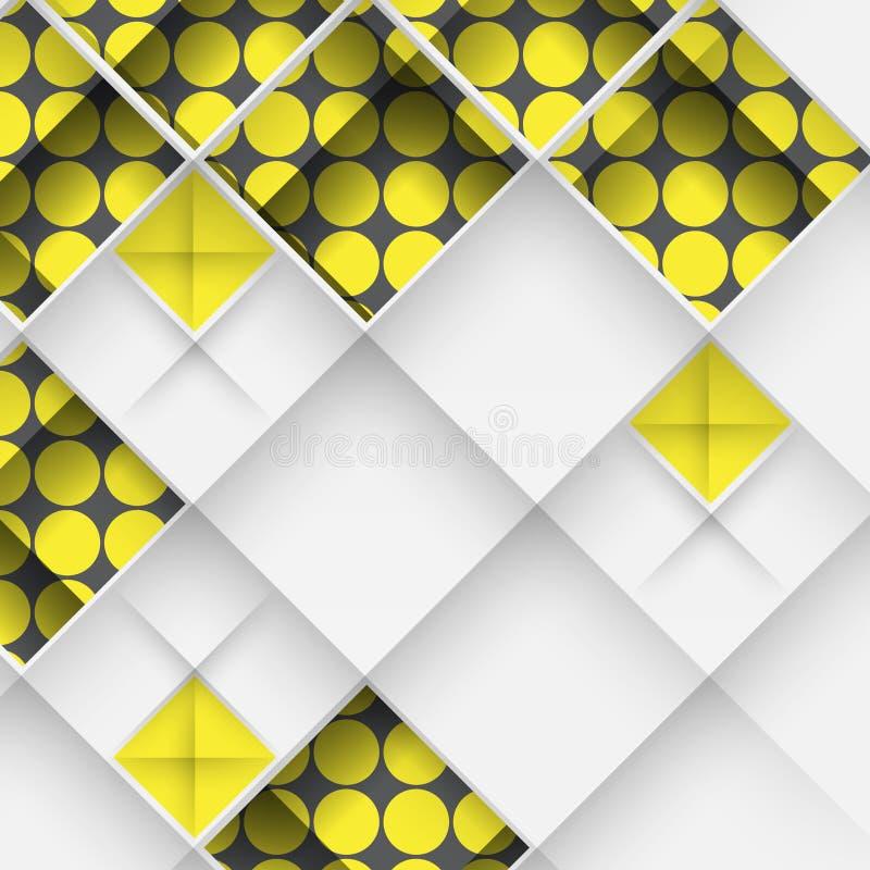 Progettazione geometrica astratta 3D royalty illustrazione gratis