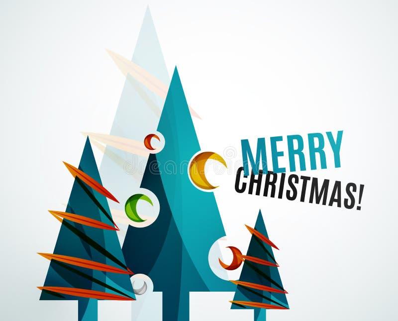 Progettazione geometrica dell'albero di Natale illustrazione vettoriale