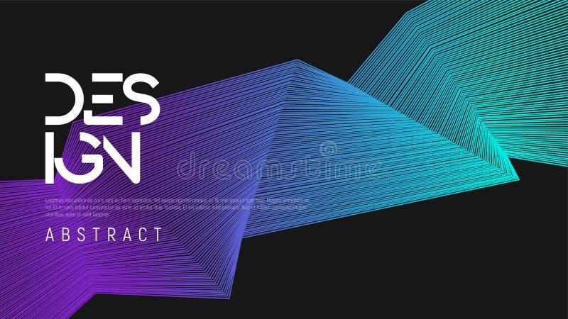 Progettazione geometrica di pendenza astratta, backgrou minimalista variopinto illustrazione di stock