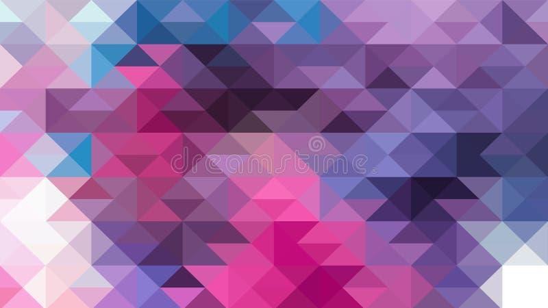 Progettazione geometrica, mosaico, mosaico astratto del fondo, modello per l'annuncio di affari, libretti, opuscoli illustrazione vettoriale