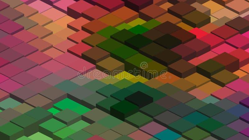 Progettazione geometrica, mosaico, mosaico astratto del fondo, modello per l'annuncio di affari, libretti, opuscoli royalty illustrazione gratis