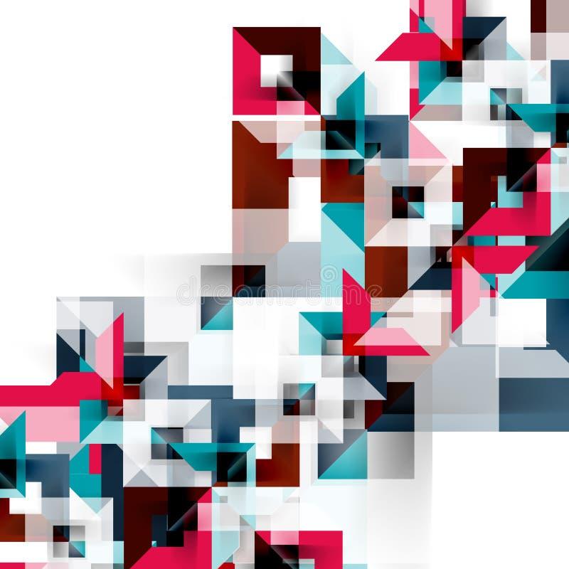 Progettazione geometrica quadrata moderna del modello su bianco royalty illustrazione gratis