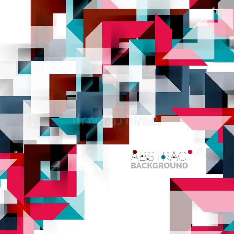 Progettazione geometrica quadrata moderna del modello su bianco illustrazione vettoriale
