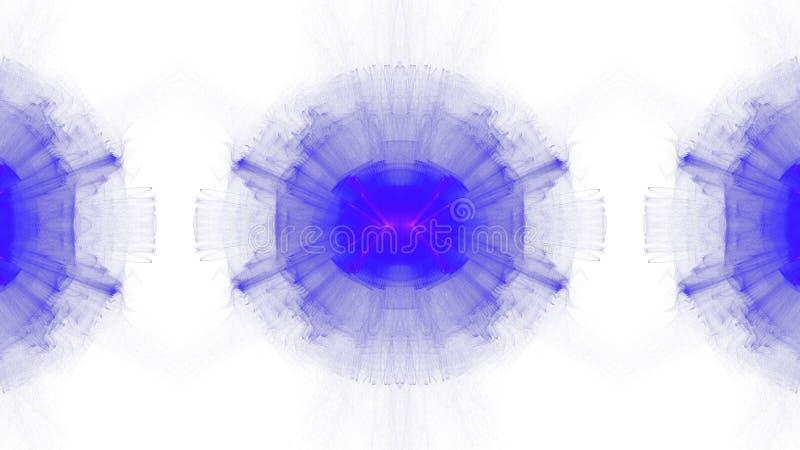 Progettazione grafica astratta blu di Digital su fondo bianco immagine stock