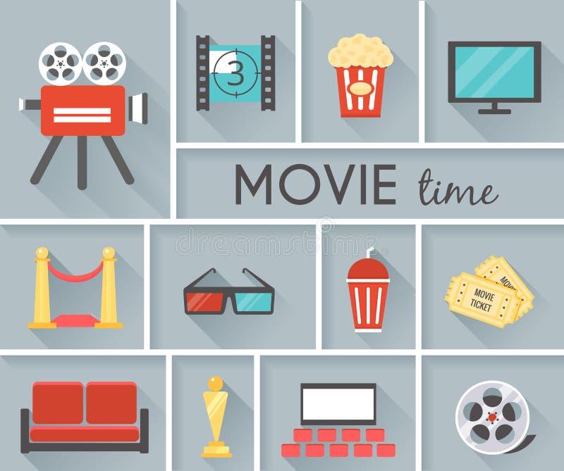 Progettazione grafica concettuale di tempo di film royalty illustrazione gratis