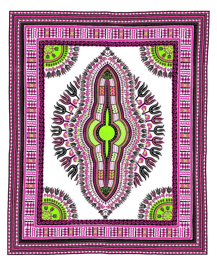Progettazione grafica del modello africano di Dashiki per abbigliamento illustrazione vettoriale