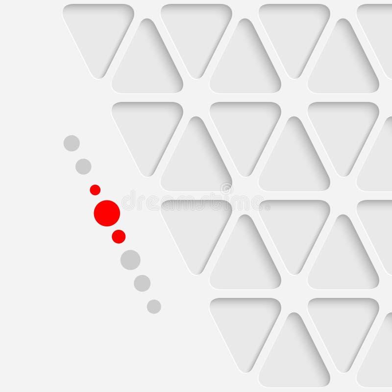 Progettazione grafica del triangolo astratto Backgro geometrico moderno bianco royalty illustrazione gratis