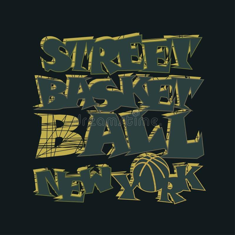 Progettazione grafica della maglietta di pallacanestro New York illustrazione vettoriale