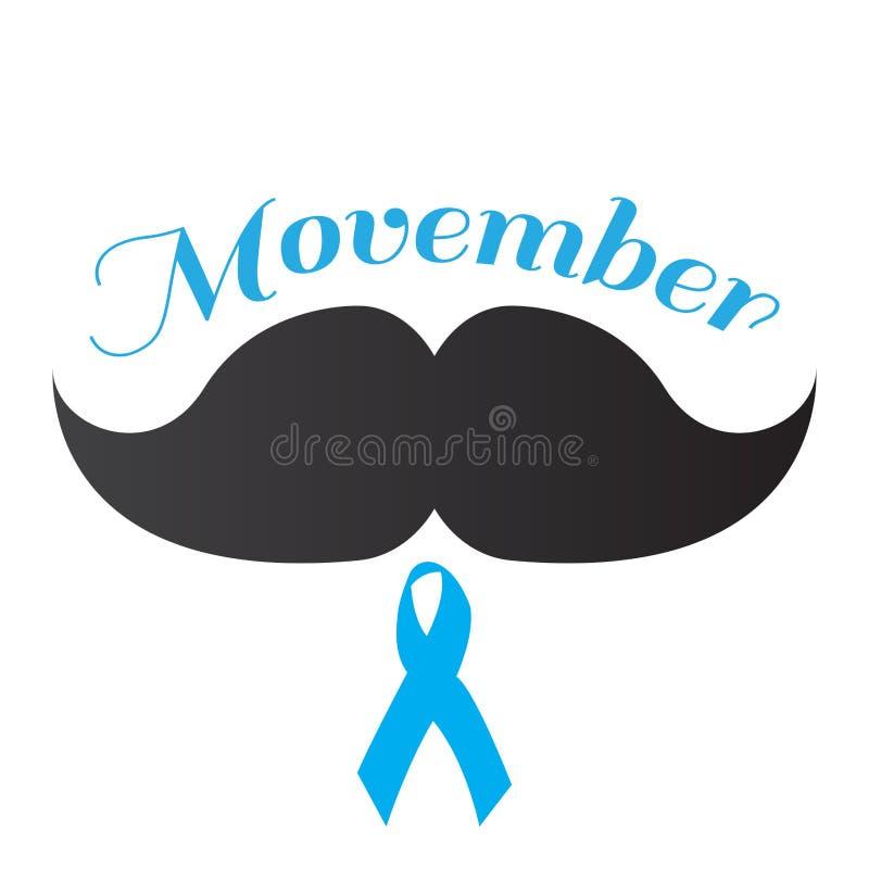 Progettazione grafica di Movember royalty illustrazione gratis