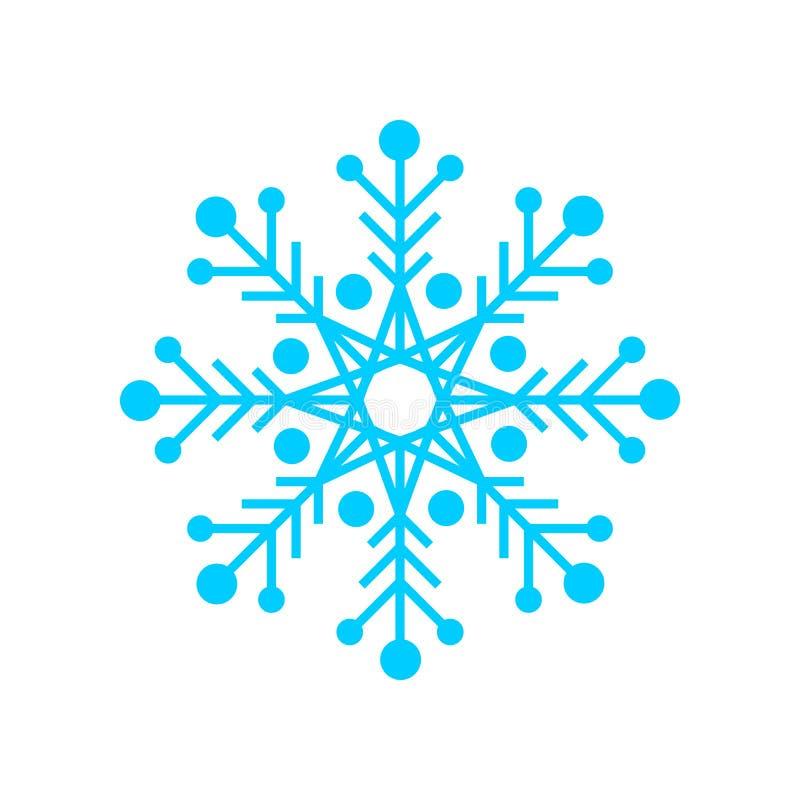 Progettazione grafica di simbolo blu unico di forma del fiocco di neve royalty illustrazione gratis