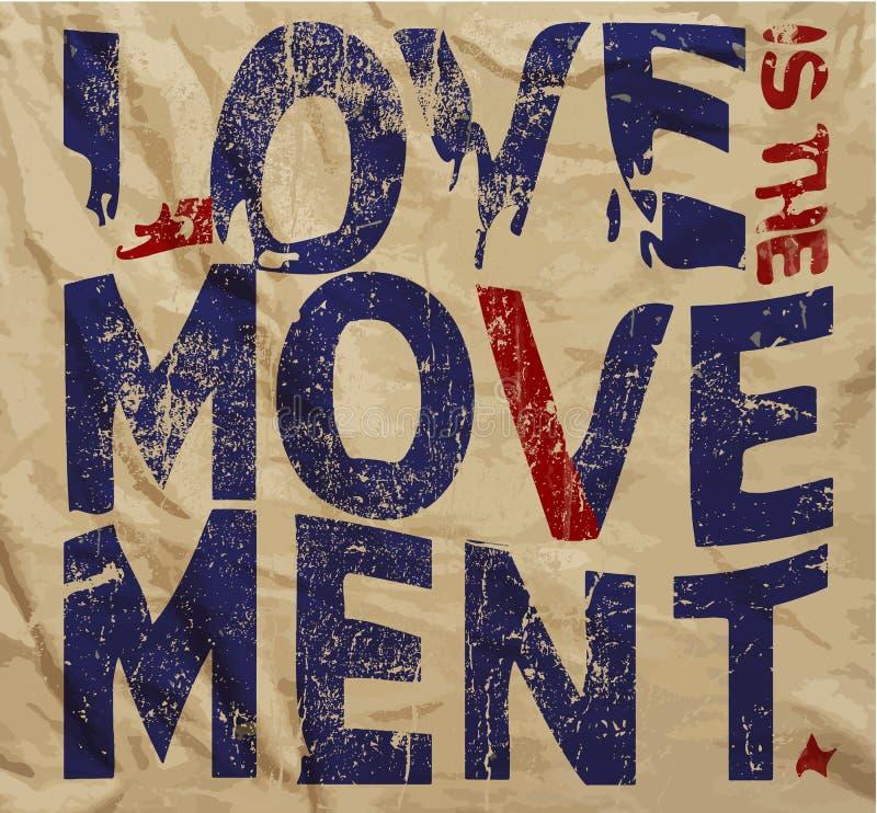 Progettazione grafica di vettore della maglietta d'annata di slogan di amore royalty illustrazione gratis