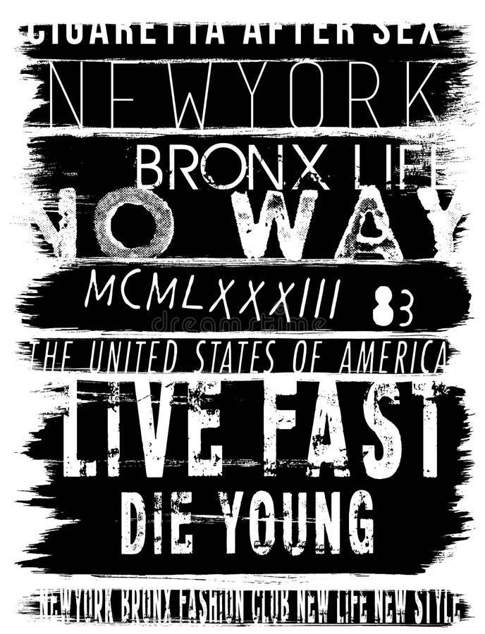 Progettazione grafica di vettore di slogan della maglietta d'annata dell'uomo royalty illustrazione gratis