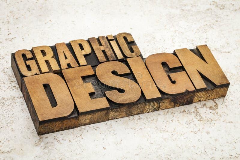 Progettazione grafica nel tipo di legno immagine stock libera da diritti