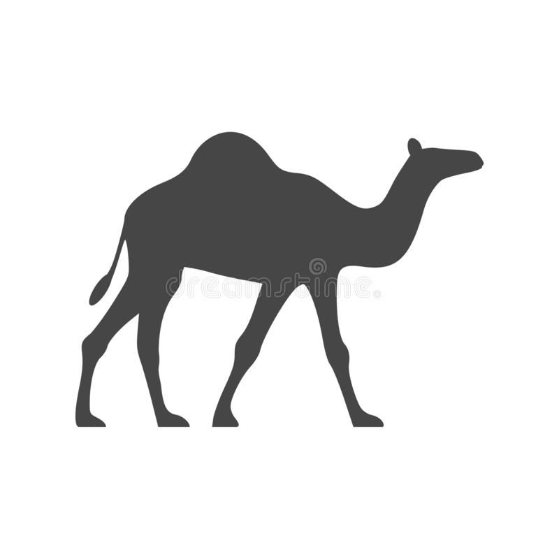 Progettazione grafica piana dell'icona del cammello - illustrazione illustrazione di stock