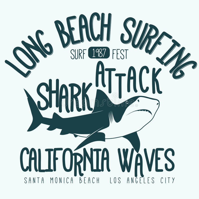 Progettazione grafica praticante il surfing della maglietta royalty illustrazione gratis