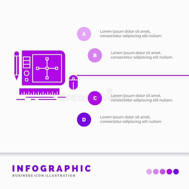 progettazione, grafico, strumento, software, modello di progettazione di web Infographics per il sito Web e presentazione Icona p royalty illustrazione gratis