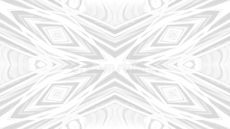 Progettazione grigia astratta di arte di Digital su fondo bianco illustrazione di stock