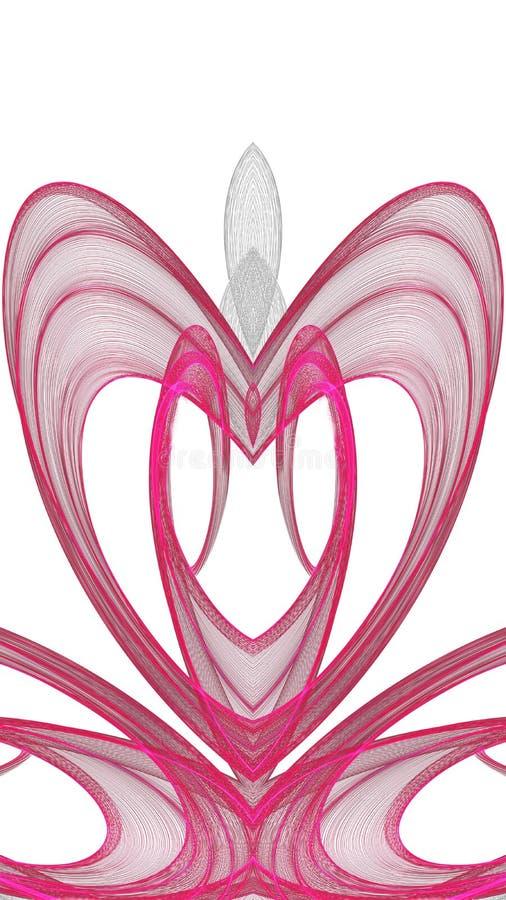 Progettazione grigia di arte di Digital e rossa astratta su fondo bianco illustrazione di stock