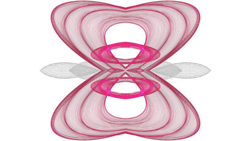 Progettazione grigia di arte di Digital e rossa astratta su fondo bianco illustrazione vettoriale