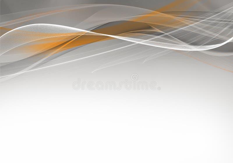 Progettazione grigia ed arancio astratta elegante del fondo illustrazione di stock