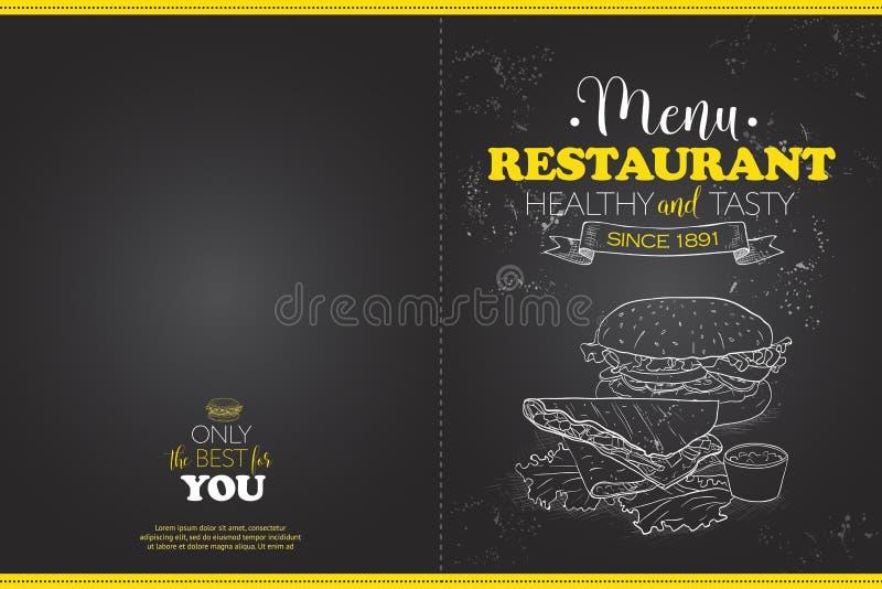 Progettazione horisontal del menu di Scetch della copertura illustrazione vettoriale