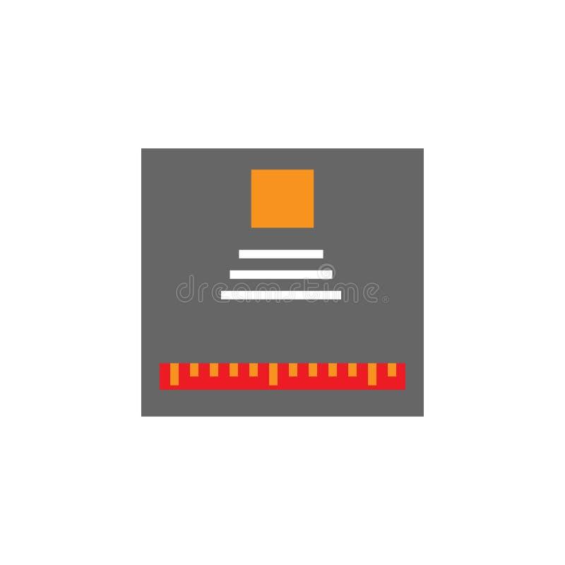 Progettazione, icona del progetto Elemento dell'icona di Desing di web per i apps mobili di web e di concetto La progettazione de illustrazione vettoriale