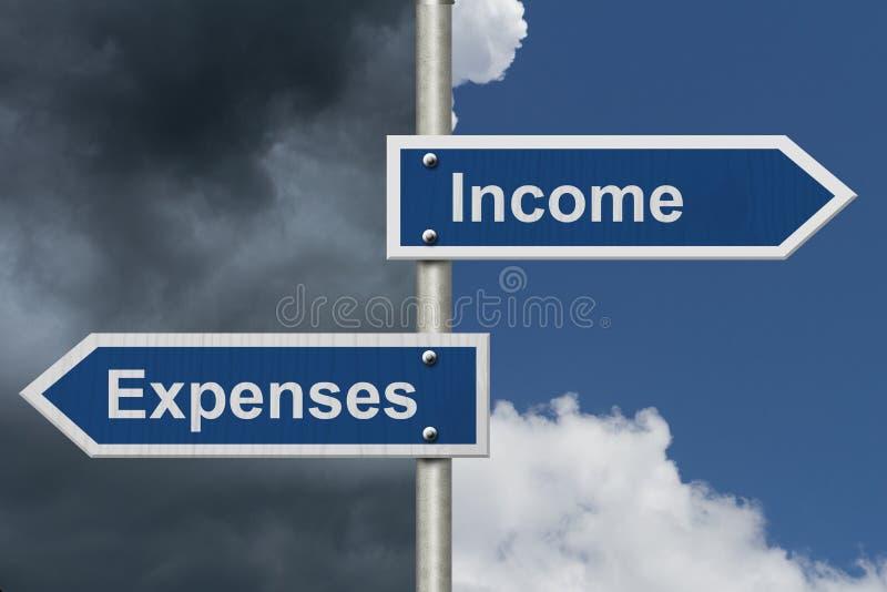 Progettazione il vostri reddito e spese fotografia stock