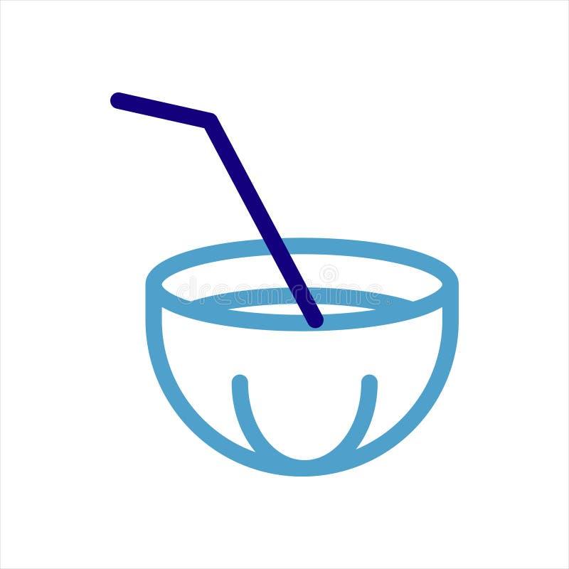Progettazione illustrazione vettoriale icona di coconut Drink royalty illustrazione gratis