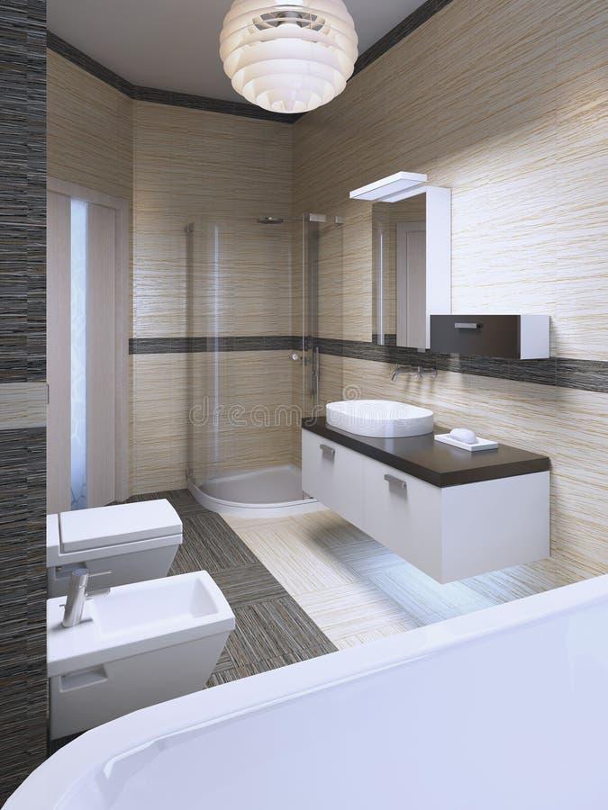 Progettazione impressionante del bagno moderno fotografie stock libere da diritti