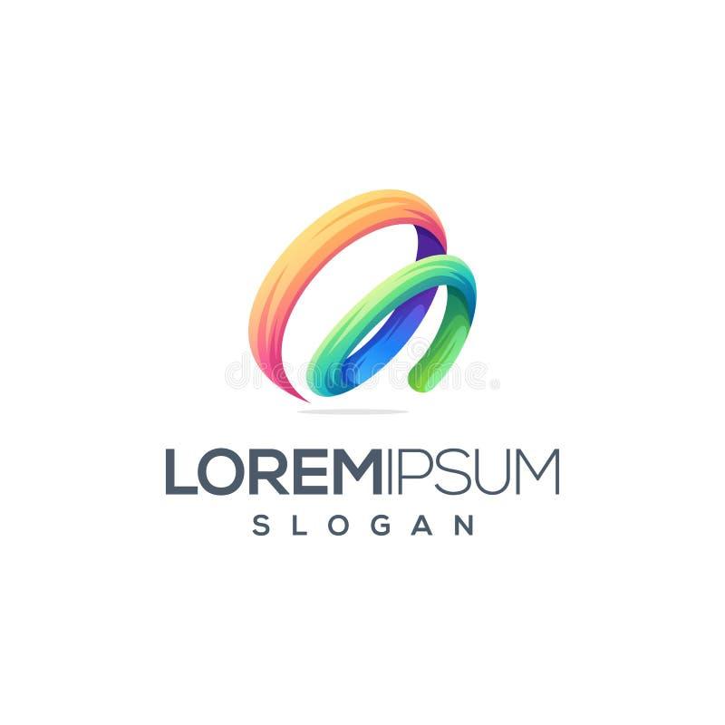 Progettazione impressionante di logo della lettera m. illustrazione di stock