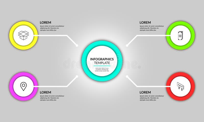 Progettazione infographic del modello del cerchio astratto fotografia stock libera da diritti