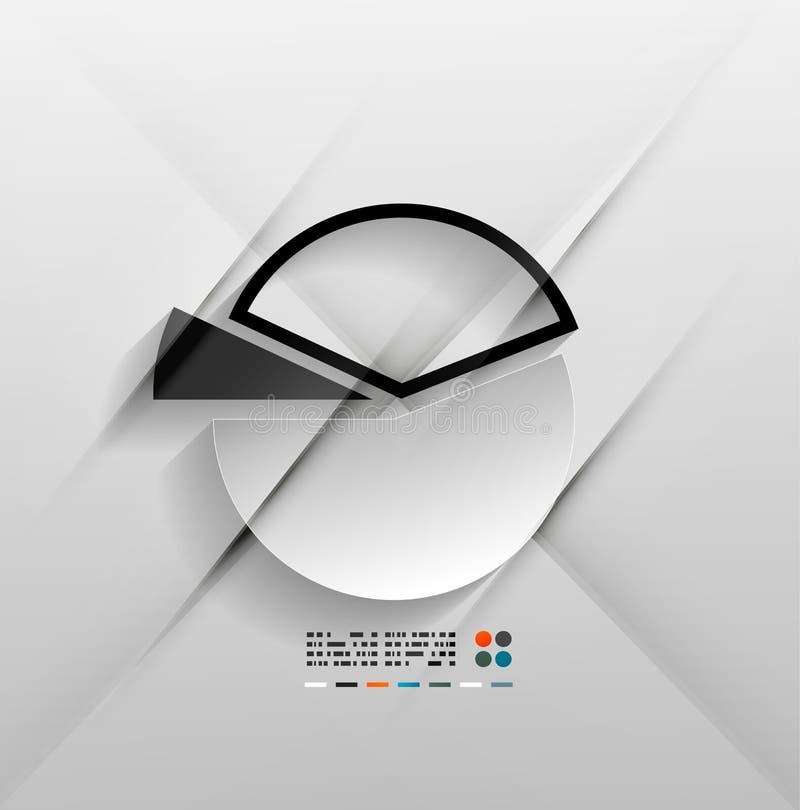 Progettazione infographic della carta del grafico 3d di vettore illustrazione vettoriale