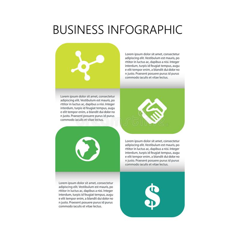 Progettazione infographic di affari creativi illustrazione vettoriale