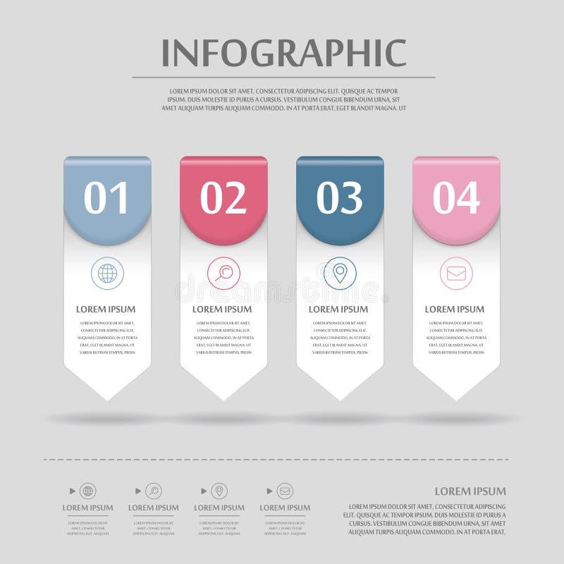 Progettazione infographic moderna illustrazione di stock