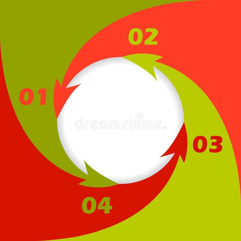 Progettazione inforgraphic di circonduzione delle frecce illustrazione di stock