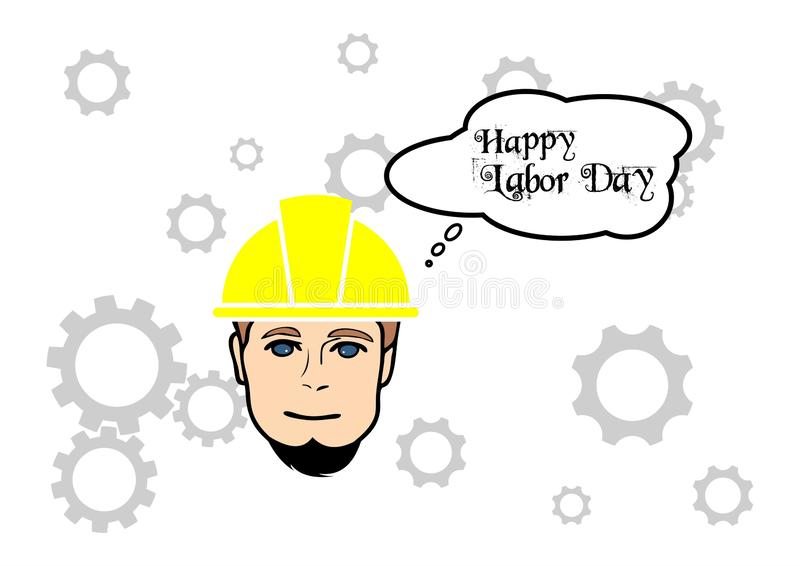 Progettazione internazionale di vettore della siluetta di festa del lavoro immagine stock libera da diritti