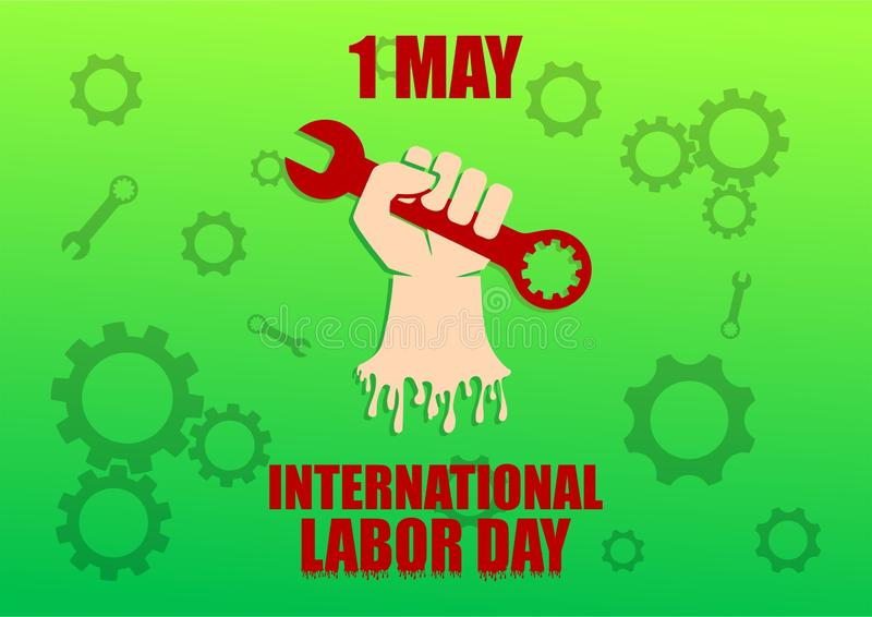 Progettazione internazionale di vettore della siluetta di festa del lavoro immagini stock libere da diritti