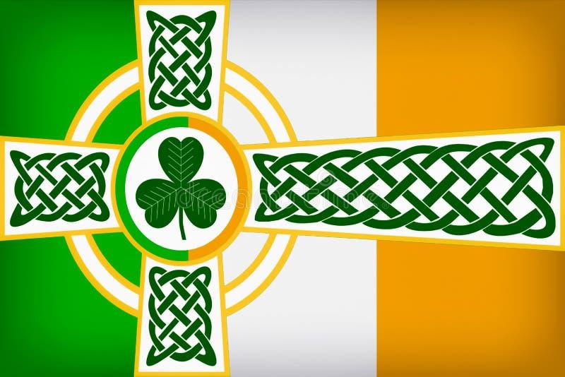 Progettazione irlandese celtica della bandiera illustrazione vettoriale
