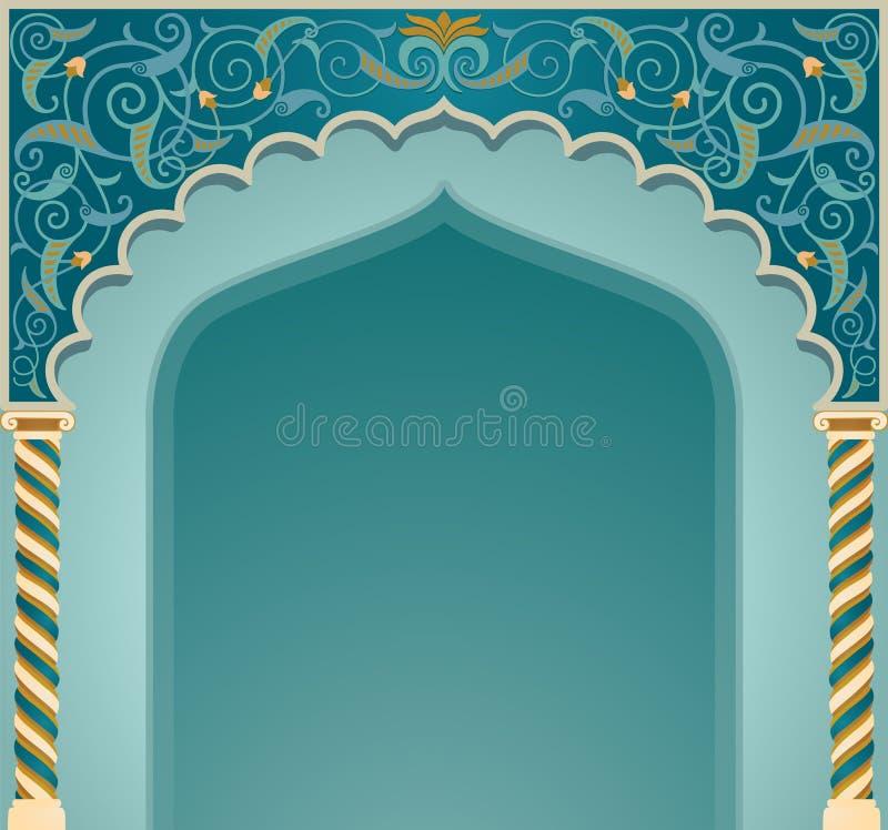 Progettazione islamica dell'arco illustrazione di stock