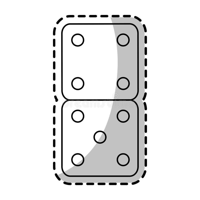 Progettazione isolata del giocattolo dei dadi illustrazione vettoriale