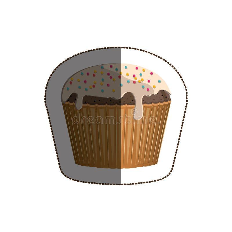 Progettazione isolata del muffin illustrazione vettoriale