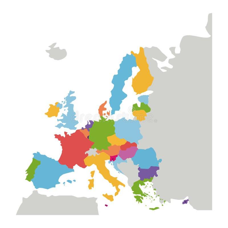 Progettazione isolata dell'Unione Europea immagine stock libera da diritti