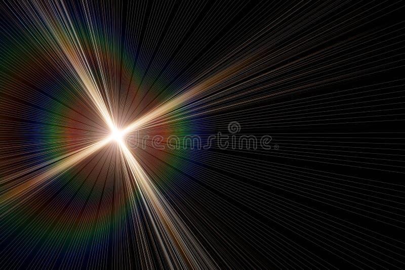 Progettazione leggera d'ardore futuristica del fondo del chiarore illustrazione vettoriale